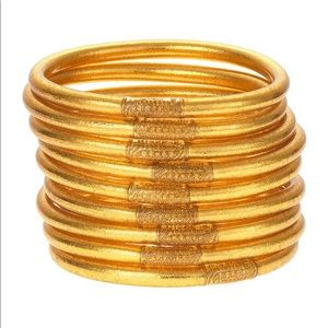 Budhagirl Gold Bangles 6 IN THE SET!